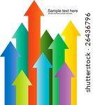 arrow pointing up illustration | Shutterstock . vector #26436796