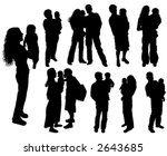 silhouettes of parents with... | Shutterstock .eps vector #2643685