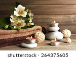 beautiful spa composition with... | Shutterstock . vector #264375605