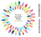 watercolor colorful abstract... | Shutterstock .eps vector #264386285