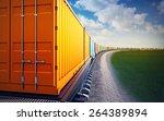 3d illustration of wagon of... | Shutterstock . vector #264389894