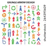 grunge arrows design on white...