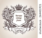 hand drawing vintage baroque... | Shutterstock .eps vector #264401921
