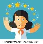 dizziness. business metaphor... | Shutterstock .eps vector #264407651