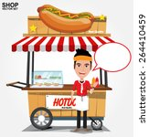 Hot Dog Street Cart With Selle...