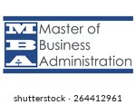 mba   master of business... | Shutterstock . vector #264412961