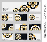 graphic trendy banner and 9... | Shutterstock .eps vector #264414251