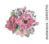 flower bouquet. floral... | Shutterstock .eps vector #264419741