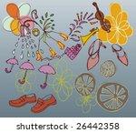 cute illustration of rain ... | Shutterstock .eps vector #26442358