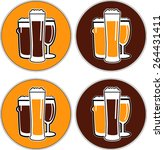vector set coaster with... | Shutterstock .eps vector #264431411