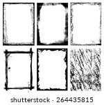 vector borders and textures   ... | Shutterstock .eps vector #264435815