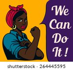 we can do it  vintage poster ... | Shutterstock .eps vector #264445595