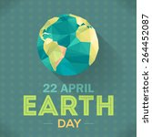 vector low poly april 22 earth...   Shutterstock .eps vector #264452087