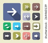 arrow icon set. vector... | Shutterstock .eps vector #264460139