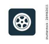 car wheel icon rounded squares... | Shutterstock .eps vector #264462611