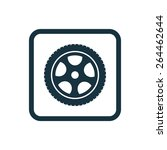 car wheel icon rounded squares... | Shutterstock .eps vector #264462644