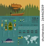 fishing infographic elements ... | Shutterstock .eps vector #264462839
