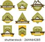 set of nine vintage badges on... | Shutterstock .eps vector #264464285