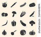 vector set of vegetables icons. ...   Shutterstock .eps vector #264464894