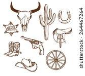 Hand Drawn Wild West Western...