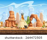 seamless horizontal background... | Shutterstock .eps vector #264472505