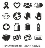 charity icons | Shutterstock .eps vector #264473021