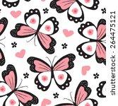 seamless butterfly pattern... | Shutterstock .eps vector #264475121