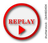 replay icon. internet button on ... | Shutterstock . vector #264483404