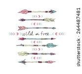 Hand Drawn Set Of Tribal Arrow...