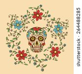 hand drawn day of the dead... | Shutterstock .eps vector #264488285