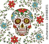 hand drawn day of the dead... | Shutterstock .eps vector #264488351