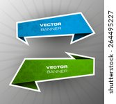 origami paper infographic... | Shutterstock .eps vector #264495227