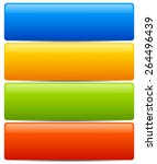 colorful  horizontal button ...   Shutterstock .eps vector #264496439