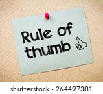 rule of thumb message. recycled ... | Shutterstock . vector #264497381