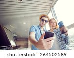 we love traveling  vacation... | Shutterstock . vector #264502589