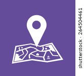 white location icon on map and... | Shutterstock .eps vector #264504461