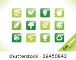 green environment vector icon... | Shutterstock .eps vector #26450842