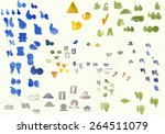 a scattering of colorful... | Shutterstock . vector #264511079