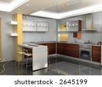 the modern kitchen interior... | Shutterstock . vector #2645199