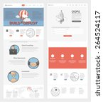 set of two flat pages website... | Shutterstock .eps vector #264524117
