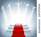 illuminated stage podium with... | Shutterstock .eps vector #264543464