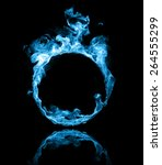 Ring Of Blue Fire In Black...