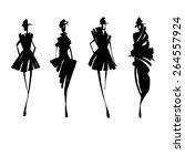 fashion models silhouettes  ... | Shutterstock .eps vector #264557924