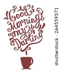 hand drawn coffee poster... | Shutterstock .eps vector #264559571