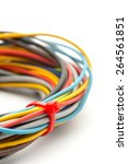 bunch of colorful wires... | Shutterstock . vector #264561851