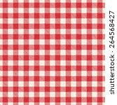 red and white textured plaid... | Shutterstock .eps vector #264568427