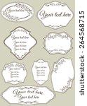 set of vintage labels  ... | Shutterstock .eps vector #264568715