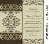 antique baroque wedding... | Shutterstock .eps vector #264579521