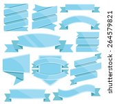 blue ribbons set. vector...