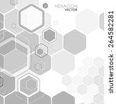 abstract background hexagon.... | Shutterstock .eps vector #264582281
